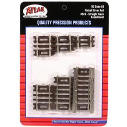 Click here to learn more about the Atlas Model Railroad HO Code 83 Straight Assortment.