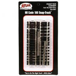 Click here to learn more about the Atlas Model Railroad HO Code 100 Straight Assortment.