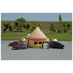 Click here to learn more about the Bachmann Industries N Ice Cream Stand, Chocolate.