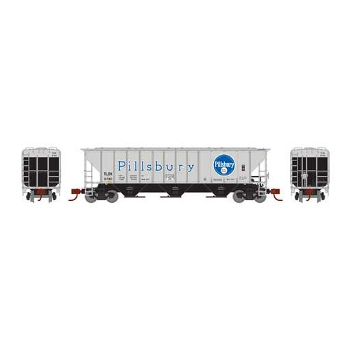 Athearn N PS 4427 Covered Hopper, TLDX/Pillsbury #6780