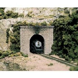 Click here to learn more about the Woodland Scenics N Single Tunnel Portal, Cut Stone (2).