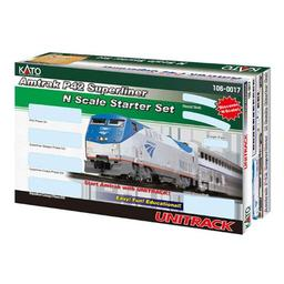 Click here to learn more about the Kato USA, Inc. N P42 Superliner Starter Set, Amtrak/Phase V.
