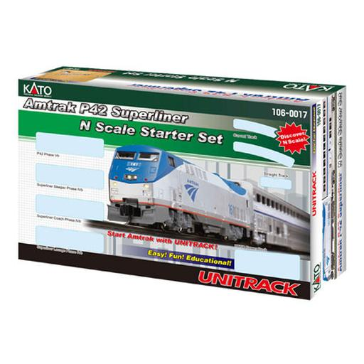 Kato USA, Inc. N P42 Superliner Starter Set, Amtrak/Phase V