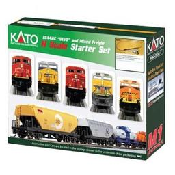 Click here to learn more about the Kato USA, Inc. N ES44AC Freight Train Set, CPR.