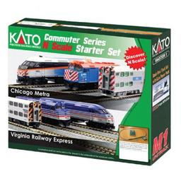 Click here to learn more about the Kato USA, Inc. N F40PH Commuter Starter Set, Metra.