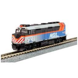 Click here to learn more about the Kato USA, Inc. N F40PH Commuter Train Start Set,Metra new paint.