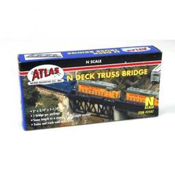 Click here to learn more about the Atlas Model Railroad N Deck Truss Bridge.
