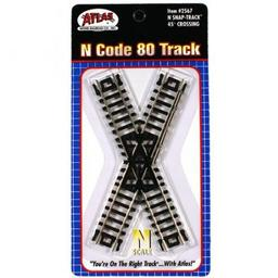 Click here to learn more about the Atlas Model Railroad N Code 80 45 Degree Crossing.