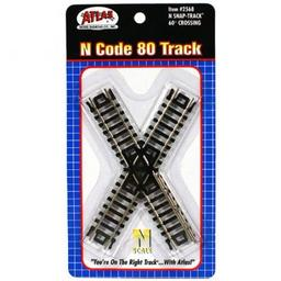 Click here to learn more about the Atlas Model Railroad N Code 80 60 Degree Crossing.