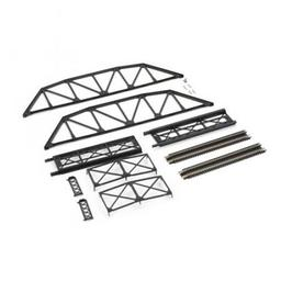 Click here to learn more about the Atlas Model Railroad N KIT Code 80 Through Truss Bridge, Black.
