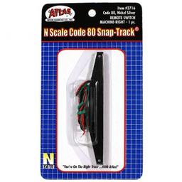 Click here to learn more about the Atlas Model Railroad N Code 80 Remote Right-Hand Switch Machine.