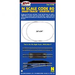 Click here to learn more about the Atlas Model Railroad N Code 80 Snap-Track Starter Set (24).