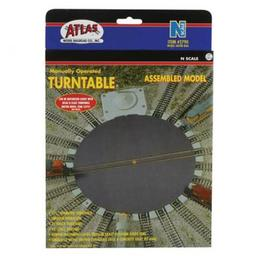 Click here to learn more about the Atlas Model Railroad N Manual Turntable.