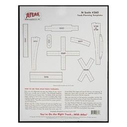 Click here to learn more about the Atlas Model Railroad N Track Planning Templates.
