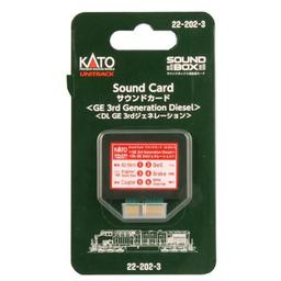 Click here to learn more about the Kato USA, Inc. Sound Card, Third Generation GE Diesel.