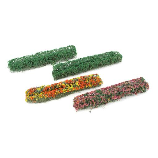 "JTT Scenery Products Flower Hedges, Green/Blossom Blended 5x3/8x5/8""(8)"
