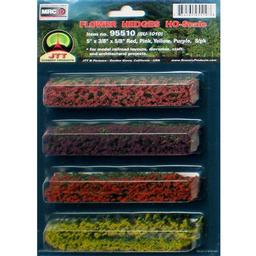 "Click here to learn more about the JTT Scenery Products Flower Hedges,Red/Pink/Yellow/Purple 5x3/8x5/8""(8)."