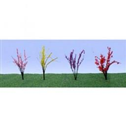 "Click here to learn more about the JTT Scenery Products Flower Bushes,Red/Pink/Yellow/Purple .5-.75""(40)."