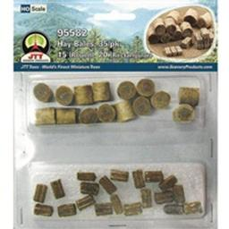 "Click here to learn more about the JTT Scenery Products Hay Bales, 1/2"" (35)."
