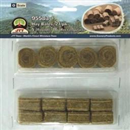 "Click here to learn more about the JTT Scenery Products Hay Bales, 3/4""- 1"" (21)."