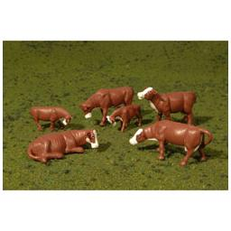 Click here to learn more about the Bachmann Industries O Cows, Brown & White.