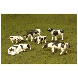 Click here to learn more about the Bachmann Industries O Cows, Black & White (6).