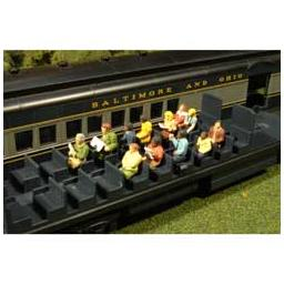 Click here to learn more about the Bachmann Industries O Waist-Up Seated Passengers (12).