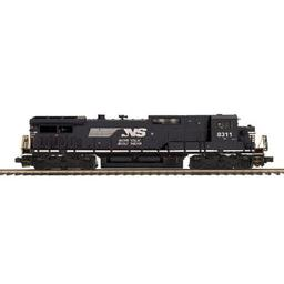 Click here to learn more about the M.T.H. Electric Trains O Hi-Rail Dash-8 Narrow Nose w/PS3, NS.