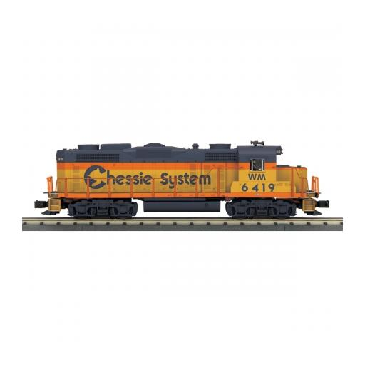 M.T.H. Electric Trains O-27 GP-20 w/PS3, Chessie #6419