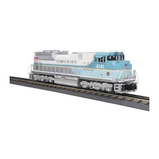 M.T.H. Electric Trains O-27 Imperial SD70ACe w/PS3, UP/George Bush #4141