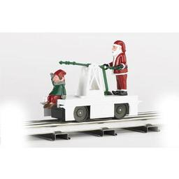 Click here to learn more about the Bachmann Industries O-27 Williams Operating Handcar, Christmas.