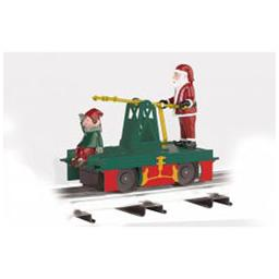Click here to learn more about the Bachmann Industries O-27 Williams OperatingHandcar,Santa&Elf/Green/Red.