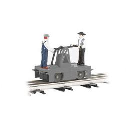 Click here to learn more about the Bachmann Industries O-27 Williams Operating Handcar, Gray.