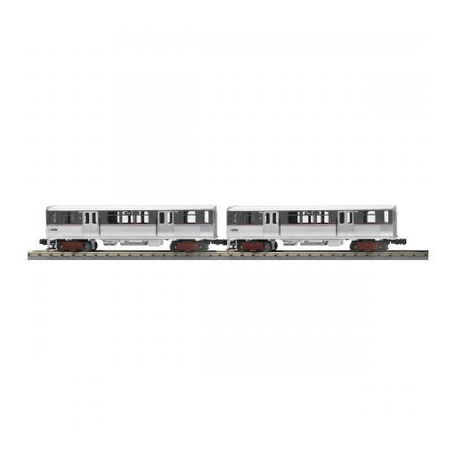 M.T.H. Electric Trains O-27 3200 Subway Dummy, CTA/Two Tone Silver (2)