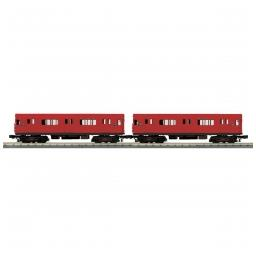 Click here to learn more about the M.T.H. Electric Trains O-27 R-12 w/PS3, MTA/Red #5780 (2).