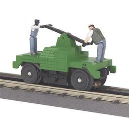 Click here to learn more about the M.T.H. Electric Trains O-27 Operating Hand Car, Green Base.