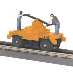 Click here to learn more about the M.T.H. Electric Trains O-27 Operating Hand Car, MOW/Orange.