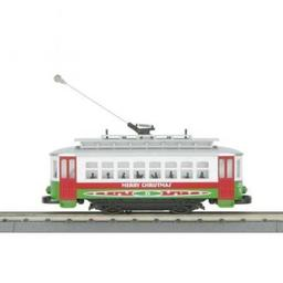 Click here to learn more about the M.T.H. Electric Trains O-27 Bump-n-Go Trolley, Christmas.