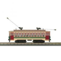 Click here to learn more about the M.T.H. Electric Trains O-27 Brill Trolley w/PS3, RDG #68.