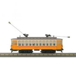 Click here to learn more about the M.T.H. Electric Trains O-27 Brill Trolley w/PS3, BERy #4352.