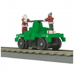 Click here to learn more about the M.T.H. Electric Trains O-27 Operating Hand Car, Christmas.