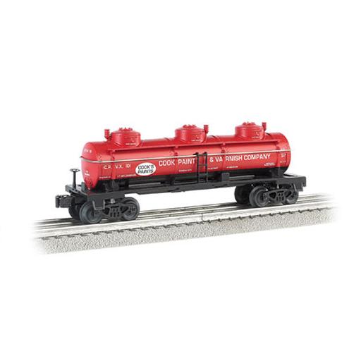 Bachmann Industries O Williams 3-Dome Tank, Cook Paint & Varnish Co