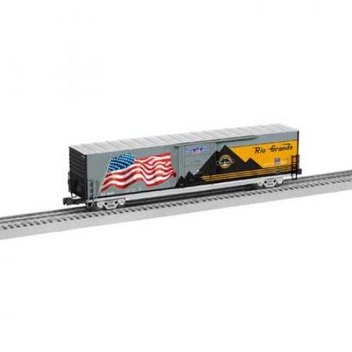 Lionel O Box w/LED, D&RGW/Flag/Heritage #1989