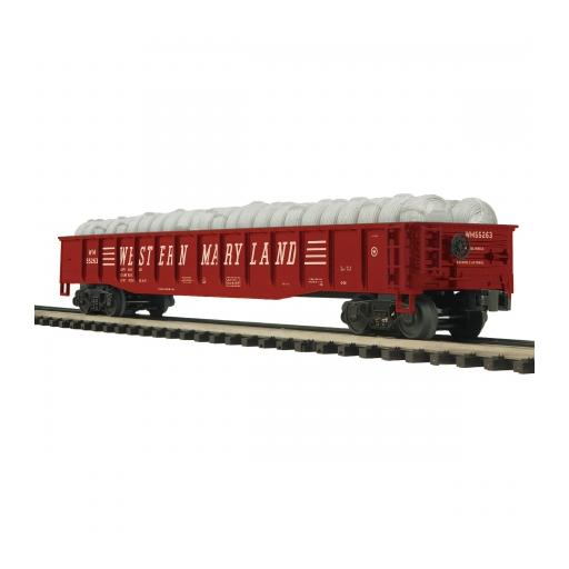 M.T.H. Electric Trains O Gondola w/Coiled Wire Load, WM #55263