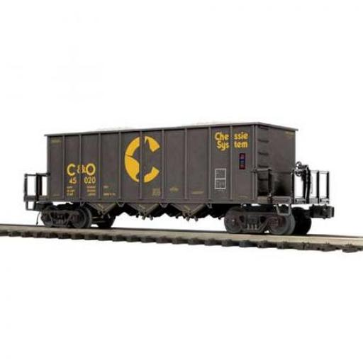 M.T.H. Electric Trains O Rapid Discharge Car, Chessie #45020