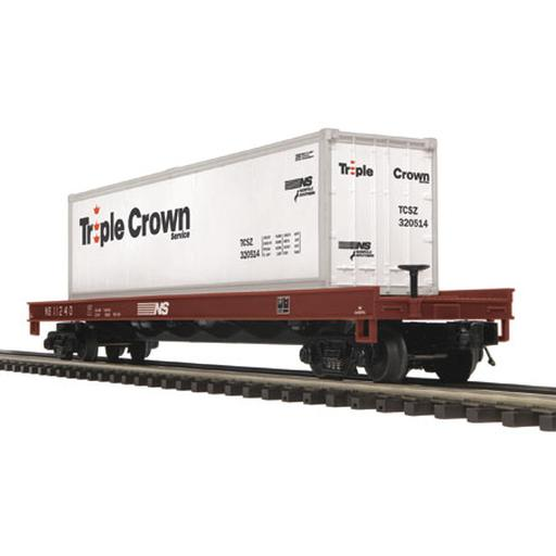 M.T.H. Electric Trains O Flat w/40'' Container, NS