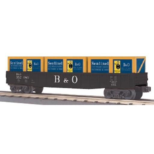 M.T.H. Electric Trains O-27 Gondola w/Crates, B&O