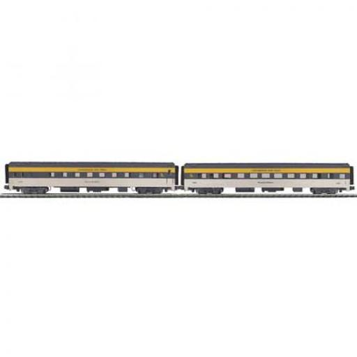 M.T.H. Electric Trains O 70'' Streamline Smooth Sleeper/Diner, C&O #2630