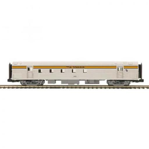 M.T.H. Electric Trains O 70'' Streamline Ribbed RPO, C&O #1402