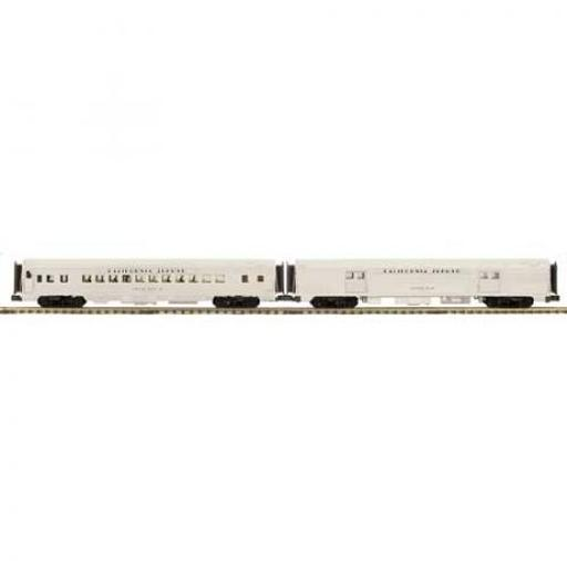 M.T.H. Electric Trains O 70'' Streamline Ribbed Baggage/Coach, CZ #802